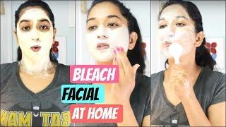 How to Facial And  Bleach at home || Brownbeautysimor || Indian Beauty guru