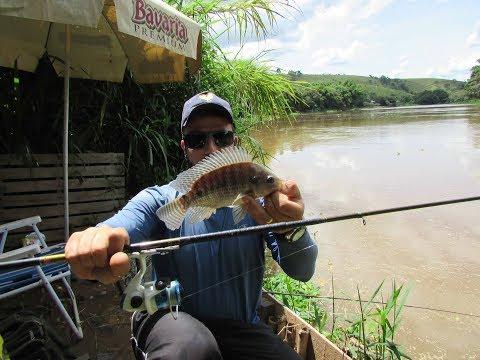 Pescando no rio com Ultra light Caseiro.