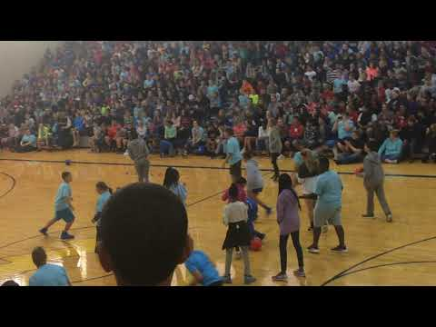 Teachers vs. students dodgeball-Franklin Township middle school east