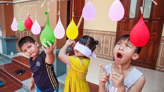 Kids Go To School | Chuns With Friends Have Fun Water Balloons The Children's