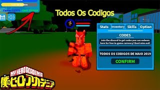[ALL CODES] MAIO 2019 UPDATE! Boku No Roblox Remastered