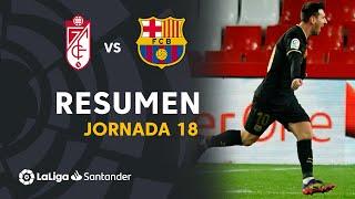 Resumen de Granada CF vs FC Barcelona (0-4)