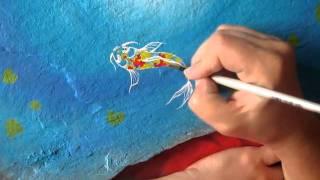 Koi Painting By Tiffany Aldridge