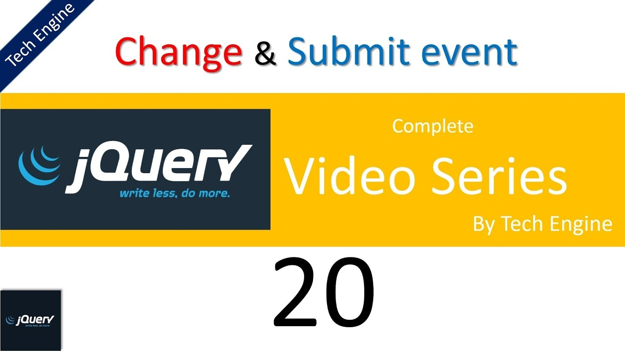 jquery tutorial series - 20 Change and Submit event usage ...