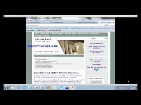 Caregiver's Corner:advancedirectives