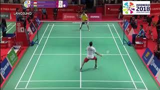 Download Video Final Badminton Fredy Setiawan vs Tarun India Asian Para Games 2018 MP3 3GP MP4