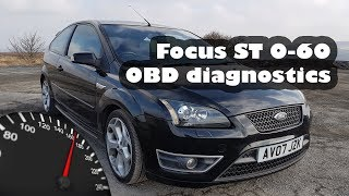 Ford Focus ST 0-60 time - OBD Diagnostic Reader using ELM327 and Torque Pro App