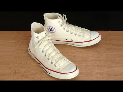 940329e3acc2 Vintage USA-MADE Converse All Star Chuck Taylor 9.5 natural white hi top  shoes - at collectornet.net
