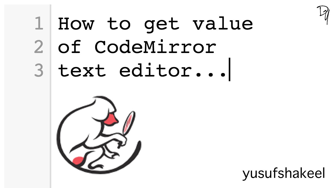 How to get value of CodeMirror text editor - step by step guide |  CodeMirror #02