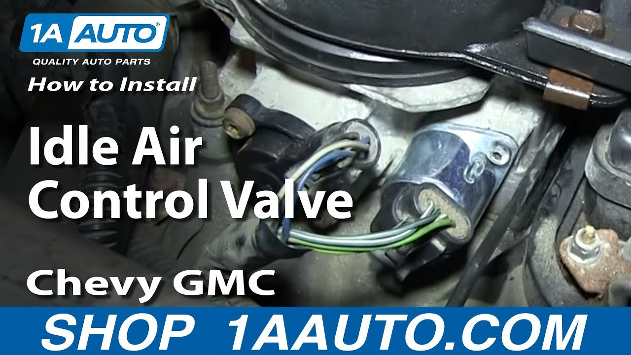 How To Install Replace Idle Air Control Valve 57L 199599 Chevy GMC C1500 K1500 Tahoe  YouTube