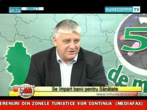 HUNEDOARA IN 50 de minute Bende Barna - banii pentru sanatate - 15 mai 2013