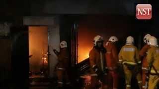 Factory in Batu Caves razed by fire