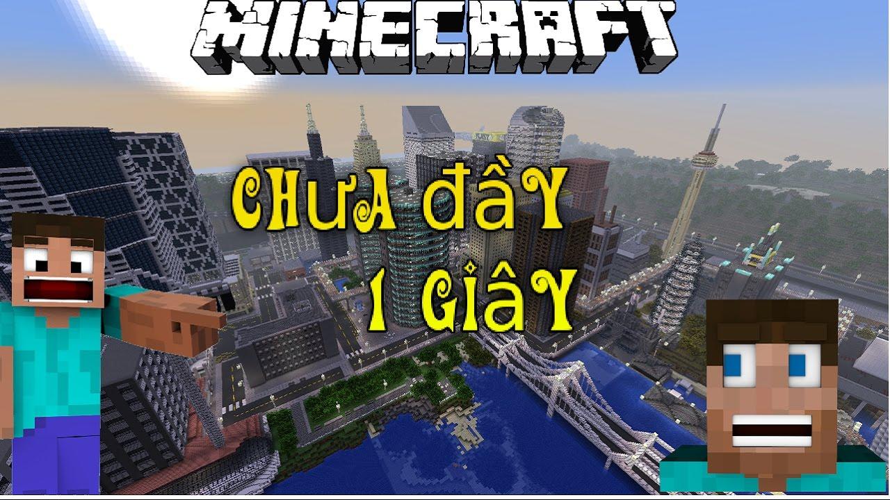 Minecraft - Xây Cả Thành Phố Chưa Tới 1 Giây