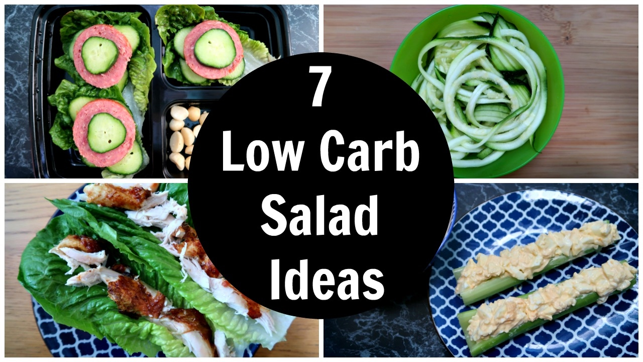 7 Low Carb Salad Ideas - A Week Of Easy Keto Diet Salad ...