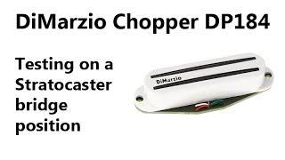 Testing DiMarzio Chopper DP184 - Squier Stratocaster USA