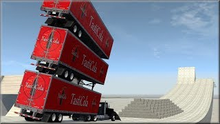BeamNG Drive - What Will Defeat 10 Metal Retaining Walls?