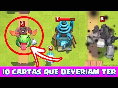 10 CARTAS NOVAS QUE DEVERIAM TER NO CLASH ROYALE