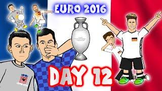 DAY 12! Euro 2016 (Croatia vs Spain 2-1 Ramos penalty)(Northern Ireland vs Germany 0-1)