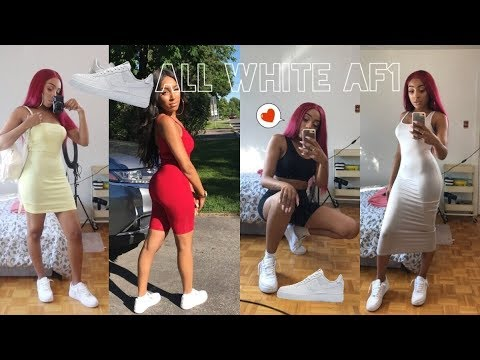 5 WAYS OF STYLING YOUR ALL WHITE AF1 - SUMMER EDITION ! - DARCIADORILAS