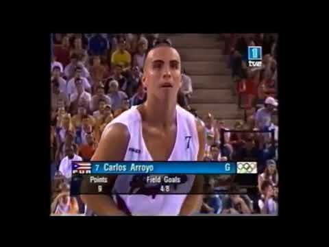 Carlos Arroyo carving up Allen Iverson, Marbury, and the USA in 2004 Olympics