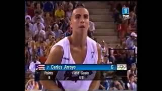 Carlos Arroyo vs USA   Athens Olympics 2004