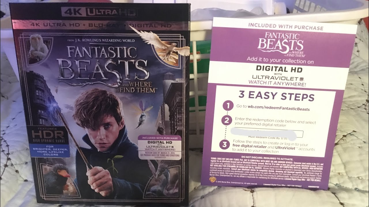 Fantastic Beasts And Where To Find Them FREE Digital Code