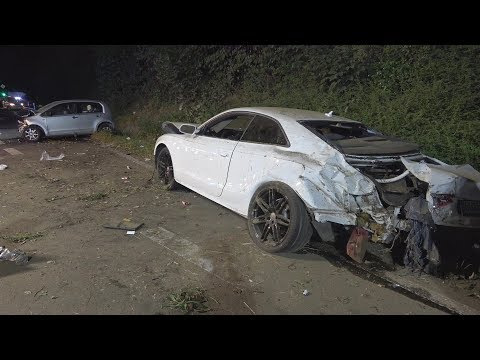 Audi gegen Leitplanke - Frontalzusammenstoß - 5 Verletzte Sankt Augustin-Buisdorf 15.9.18 + O-Töne