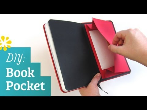 DIY Book Pocket | Sea Lemon