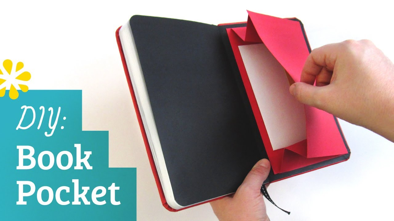 How To Make A Book Cover At Home : Diy book pocket sea lemon youtube
