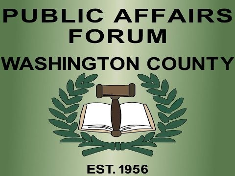 Oregonian Publisher Chris Anderson speaks to the Washington County Public Affairs Forum