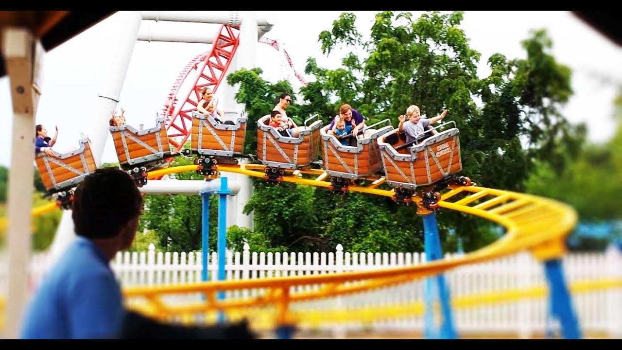 Outdoor Playground fun, roller coaster,water park | Video ...