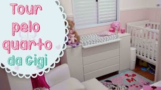 Tour pelo quarto da minha princesa + Organizando o Guarda-roupa