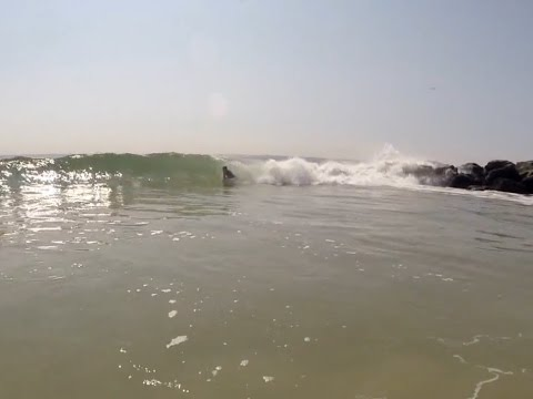 GoPro HD: Bodyboarding Bay Head Beach Howe St Ocean County New Jersey Shore Surfing