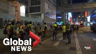 Hong Kong protests continue after clashes with police