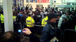 Newcastle fans protest against Fat Mike Ashley