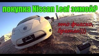 Забираем Nissan Leaf В 30 Градусный Мороз - Это Фиаско!