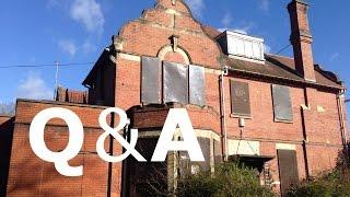 Q & A at an ABANDONED Mental Asylum (WITH BUILDERS AND DOG) - Urban Exploring - Urbex UK