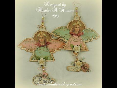 DIY Vintage Primitive Victorian Shabby Chic Angel Christmas Ornament