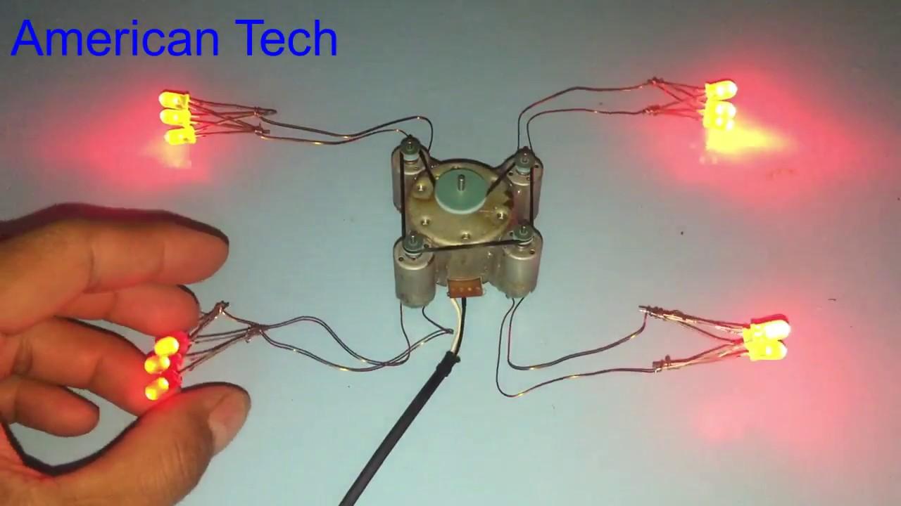 Experiment mini generator using small motor - YouTube
