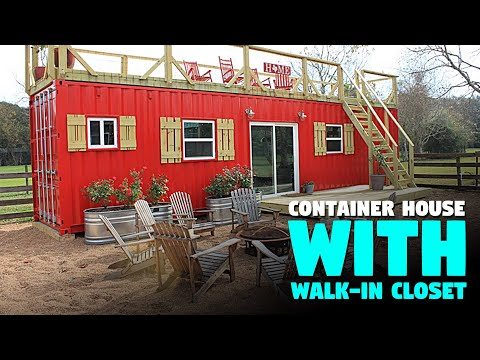 Awesome 40-Ft Tiny Shipping Container Home With Walk-In Closet!