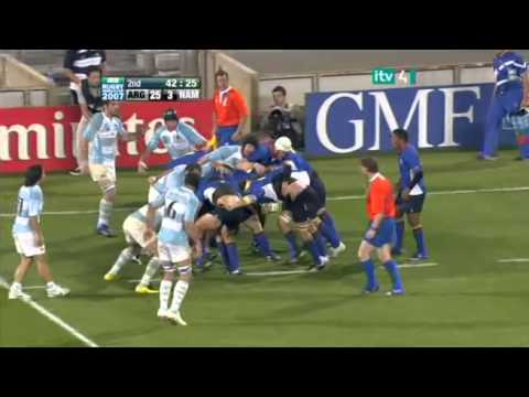 Rugby 2007. Pool D. Argentina v Namibia