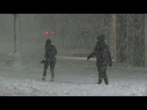 Wet, Heavy Snow Piles Up In Massachusetts