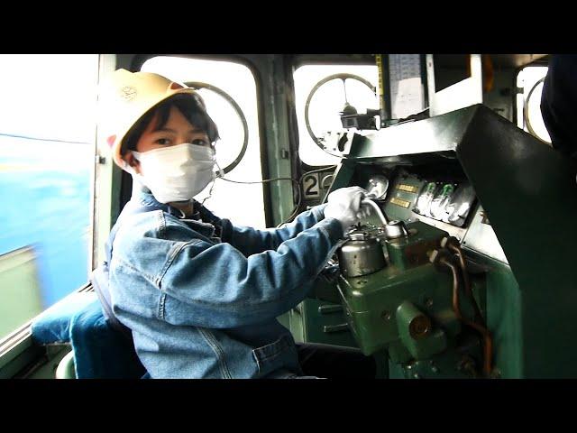 秋田臨海鉄道の運転台へ 高校生「最後に自分で別れを」