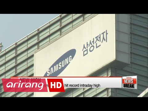 Samsung Electronics shares hit record intraday high