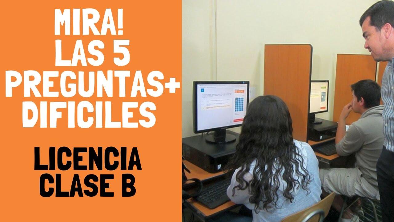Las 5 Preguntas Mas Dificiles Del Examen Teorico Clase B Y C Chile 2021 Licencia De Conducir Youtube