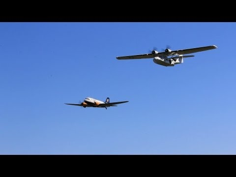 Catalina fly-by at Reykjavik Airshow 2012
