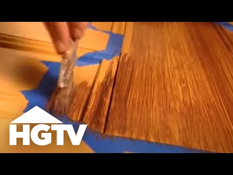 How to Paint Faux Wood Grain - HGTV Video