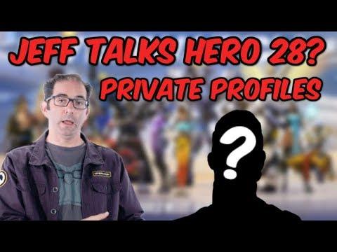 Jeff Kaplan Talks Hero 28 & Private Profiles (Reaction Video)