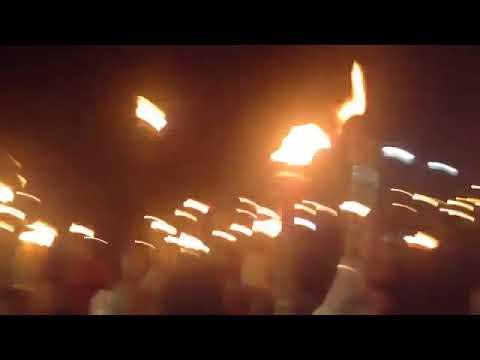 Marchers chanting DEATH TO ANTIFA #UniteTheRight
