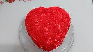 14 Şubat Sevgililer Gününe Özel Kırmızı Kalpli Pasta Tarifi